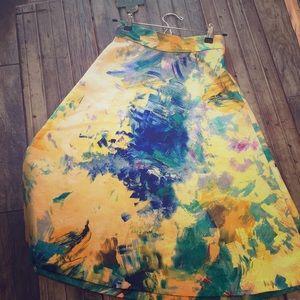 H&M midi a-line skirt